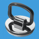 Chrome Plastic D Ring Basin Plug with Handle -74000304